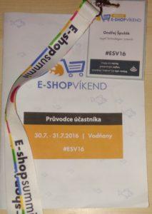 Účast na e-shop víkend 2016